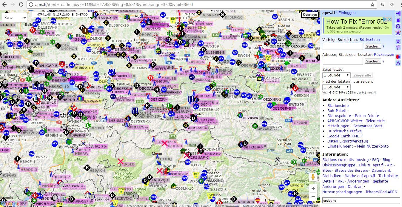 GPS Einstellungen für APRS bei Hytera Geräten – DMR Austria
