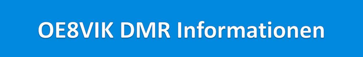 DMR Informationen von OE8VIK Logo